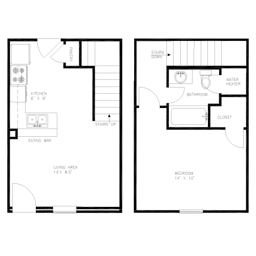 1BR layout image