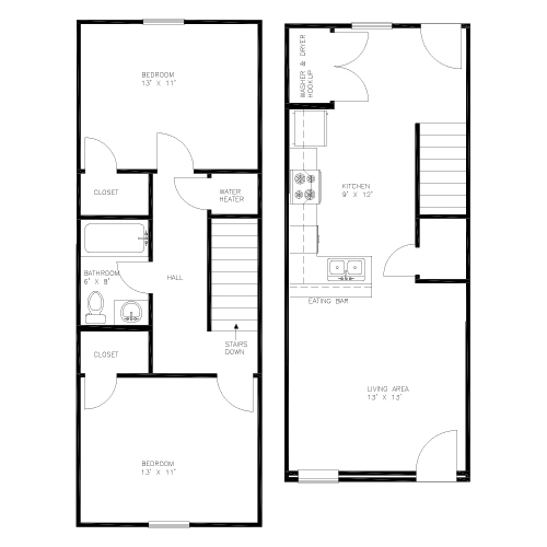 2BR layout image